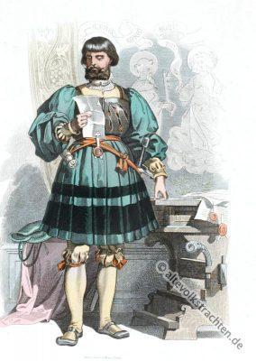 Deutscher Edelmann, Modegeschichte, Renaissance, Mode 16. Jahrhundert, Kostümgeschichte