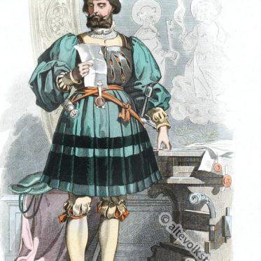 Deutscher Edelmann um 1520. Renaissance Mode