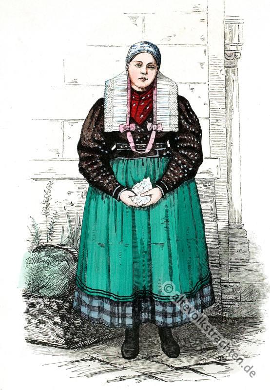 Neisse, Neuland, Schlesien, Tracht, Trachten, Kostümkunde, Volkstrachten, Franz Lipperheide,