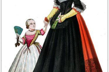 Kleidung, Barock, Kostüm, Sonntagstracht, Bürgerin