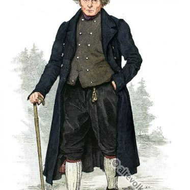 Bauer aus der Gegend des Etterberges, Thüringen um 1880.