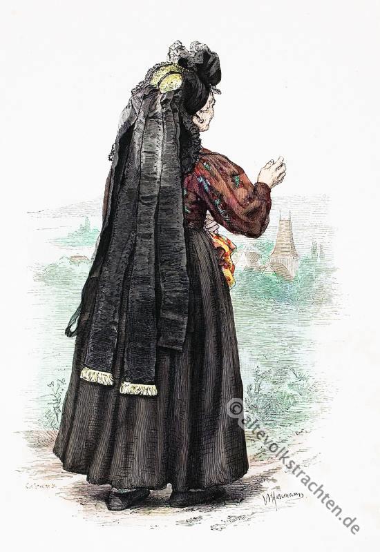 Thüringen, traditionelle Thüringer Trachten, Weimarer Trachten, historische Kostüme, Modegeschichte, Kostümgeschichte, Landkreis Weimar