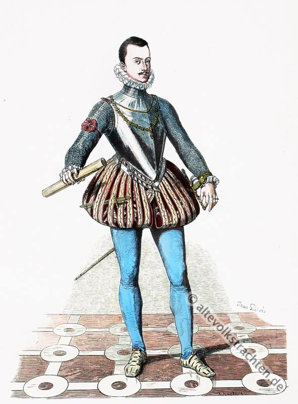 Don Juan, Renaissance Kostüme, 16. Jahrhundert Mode, Spanische Hoftracht, Modegeschichte, Kostümgeschichte,