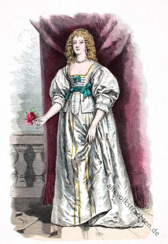 Gräfin, Devon, England, Barock, Kostüm, 17. Jahrhundert, Adel