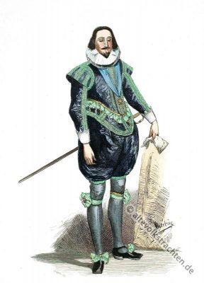 König Karl I,  England, Mode, Barock, Kostümgeschichte, 17. Jahrhundert