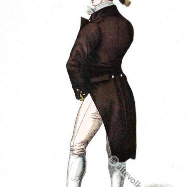 Englischer Gentleman in Garderobe von 1814.