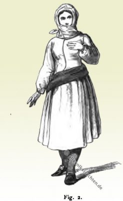 Werktagskostüm, Alltagstracht, Sylt, Westerland, Trachten, Historische Kleidung, Modegeschichte