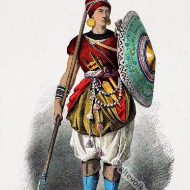 Indischer Lanzenträger im 15. Jahrhundert.