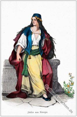 Türkei, Jüdin, Jüdische Frauentracht, Kostüm, Kostümgeschichte, Modegeschichte
