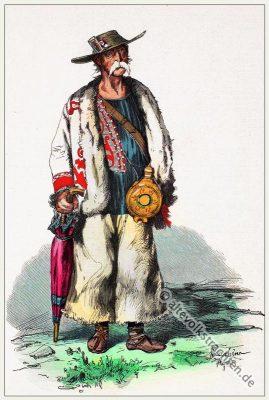 Kroatische Bauerntracht. Bauern Kostüm. Kroatische Volkstrachten.
