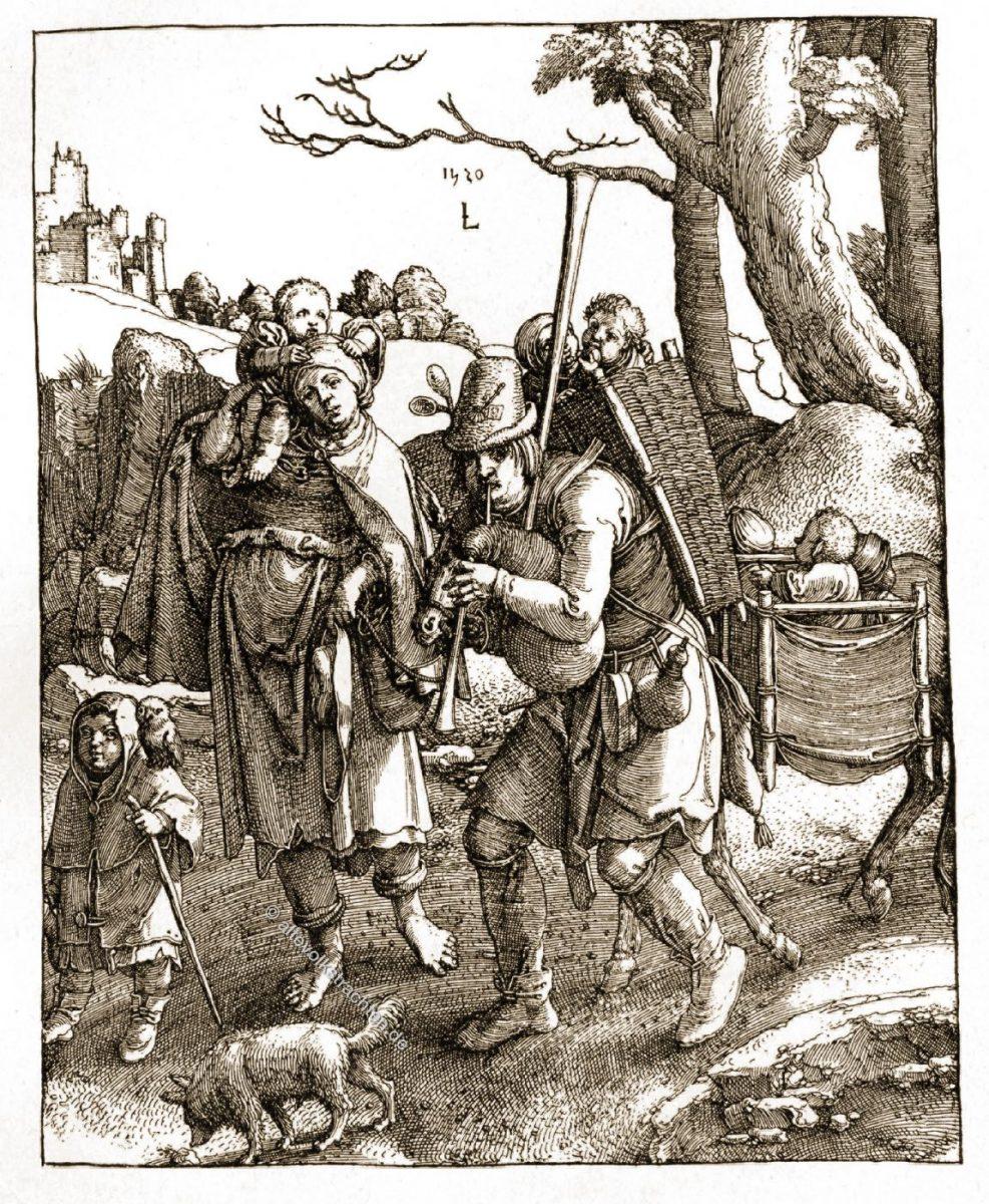 Till Eulenspiegel, Lucas van Leyden,  Kleidung, Bettler, Narr, Schalk,