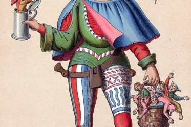 Till Eulenspiegel, Mittelalter, Kostümgeschichte, Mi-Parti, Narrenkostüm, Gaukler