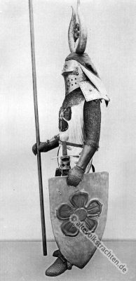 Ritter, Kübelhelm, Waffensammlung