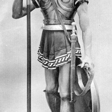 Hoplit in Rüstung ca. 660 v. Chr.. Griechischer Elitekrieger.