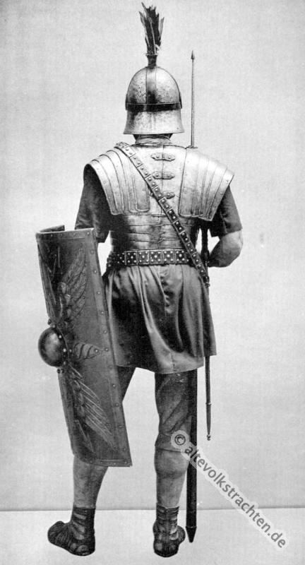 Legionär, Antike, Gewandung, Modegeschichte, Kostümgeschichte, historische Kleidung, Karl Gimbel