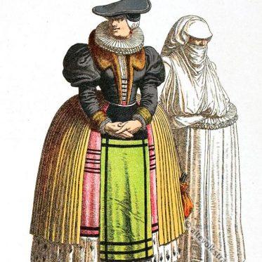 Bürgerliche Barock Kleidung aus Strassburg um 1600.