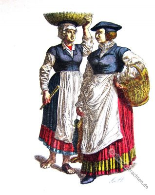 Heidelberg, Bäuerin, Dienstmagd, Kostüm, Trachten, Baden-Würtemberg