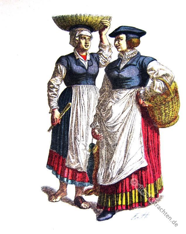Bäuerin, Dienstmagd, Kostüm, Trachten, Baden-Würtemberg