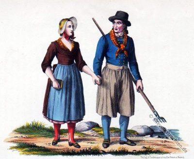 Insel Poel, Mecklenburg-Vorpommern, Trachten, Bäuerin, Bauerntracht, Trachten, Volkskostüme, Historische Volkstrachten, Kostüme,