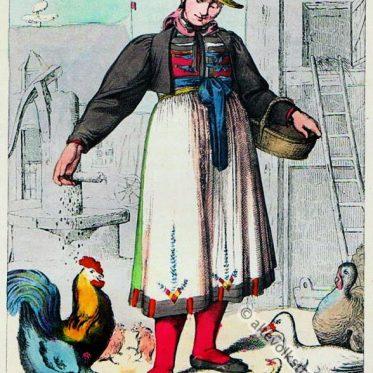 Bauernmädchen aus Furtwangen, Ober Rheinkreis.