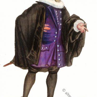 Historisches Canzlist - Anwalt Kostüm des Barock.
