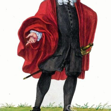 Basler Bürger in Kirchentracht um 1600.