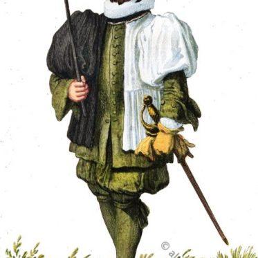 Stadtknecht aus Basel im 17. Jahrhundert.