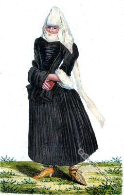Witwe, Schweiz, Tracht, Barock, Kostümgeschichte