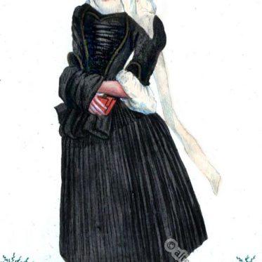 Basler Witwen Bekleidung zur Zeit des Barock um 1600.