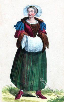 Wintertracht, Basel, Schweiz, Bürgerin, Barock, Kostüm, Kleidung