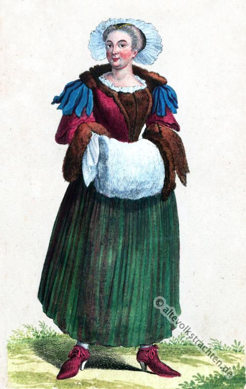 Modegeschichte, Kleidung, Barock, Schweizer Wintertracht, Kostümgeschichte, Schweiz