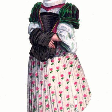 Kostüm einer Basler Bürgerin um 1600.