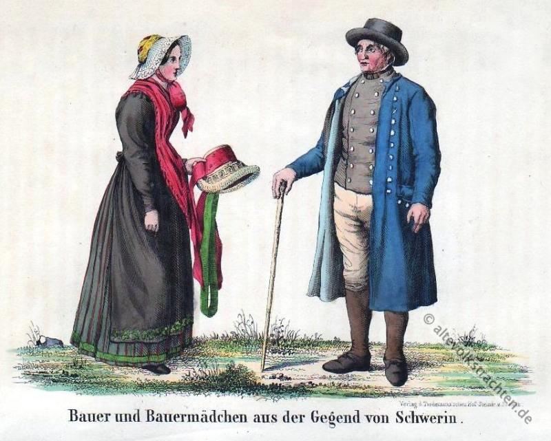 Schwerin, Bauerntrachten, Mecklenburg, Vorpommern