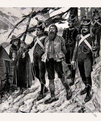 Andreas Hofer, Widerstandskämpfer, Tiroler Aufstandsbewegung, Volkstrachten,
