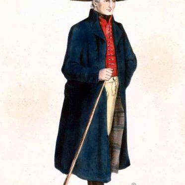 Tracht aus dem Ochsenfurter Gau, Unterfranken um 1850.