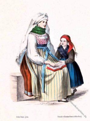 Tracht, Ochsenfurt, Trachtenmode, Bayern, Originaltrachten, Historische, Kostüme,