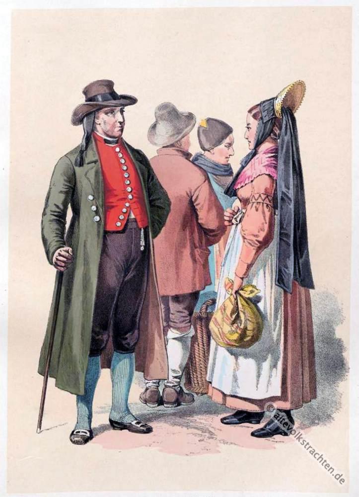 Volkstrachten, Bayern, Trachten, Schwaben, Bauertrachten