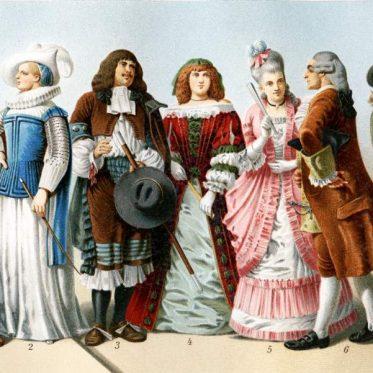 Barock Mode 17. und 18. Jahrhundert.