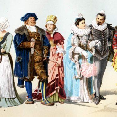 Renaissance Mode in Deutschland, 16. Jahrhundert.