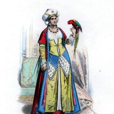 Ägyptische Tracht um 1799. Frau aus Kairo.
