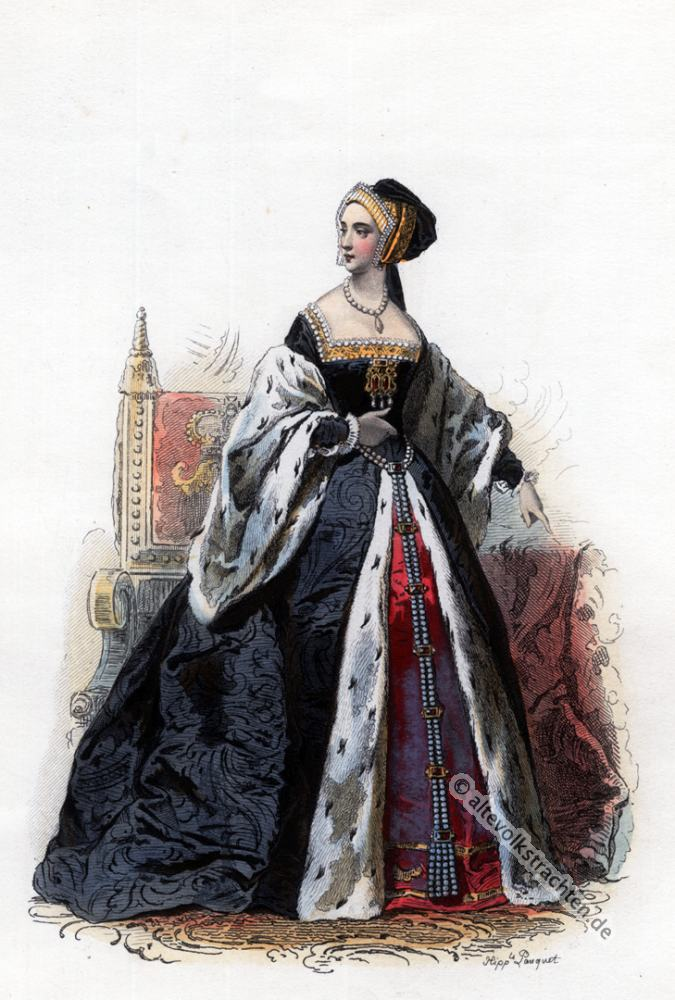 Anne Boleyn, Tudor, Mode, Renaissance, Kostümgeschichte, 16. Jahrhundert, Kostüm,