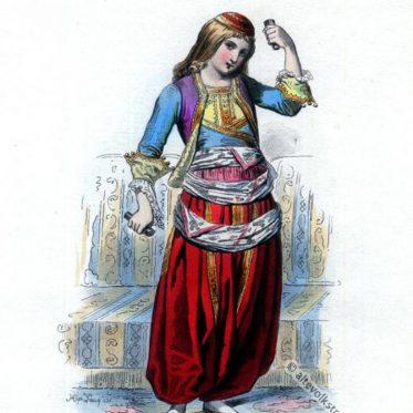 Griechische Tänzerin um 1827.