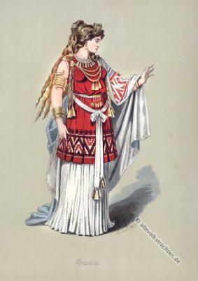 Brünnhilde. Kostüm design. Germanische Heldensage. Das Rheingold. Der Ring des Nibelungen. Komponist Richard Wagner. Deutsche Oper.