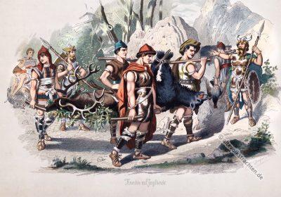 Knechte, Nibelungen, Heldensage, Kostüm, Rheingold,
