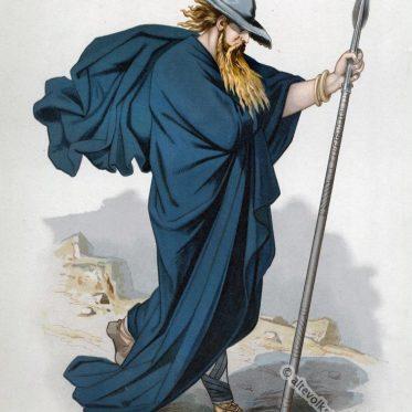 Wotan als Wanderer. Kostümentwurf. Der Ring des Nibelungen.