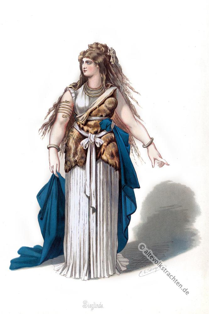 Sieglinde, Rheingold, Nibelungen, Richard Wagner, Kostüm, Oper