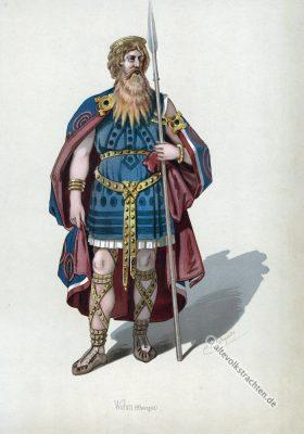 Kostüm design. Wotan. Das Rheingold. Der Ring des Nibelungen. Komponist Richard Wagner. Deutsche Oper. Ring-Zyklus. Carl Emil Doepler