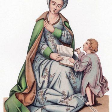Niederländische Frauentracht1460 -1500