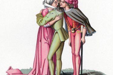 Gotik, Kostümgeschichte, Modegeschichte, Burgund, Modeepoche, Mittelalter, Kostüme