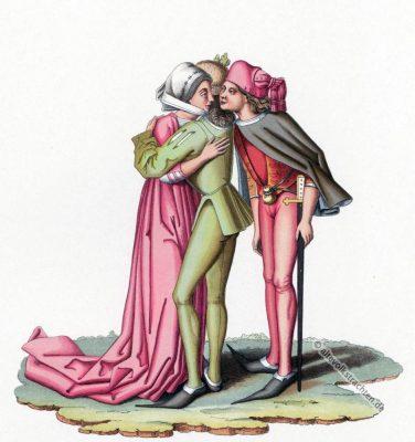Kostümgeschichte, 15. Jahrhundert, Modegeschichte, Burgund, Modeepoche, Mittelalter, Kostüme